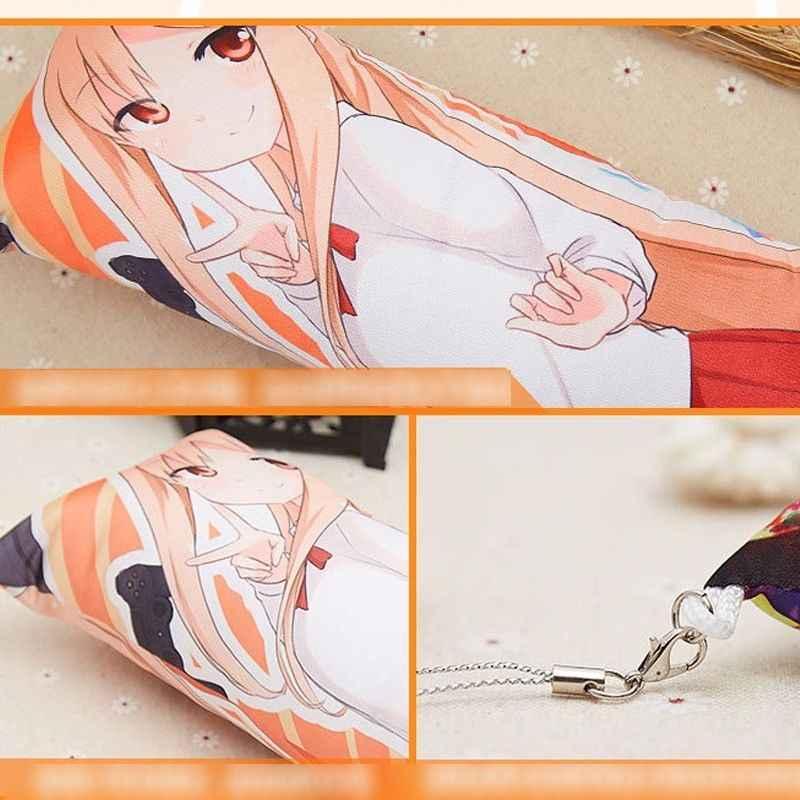 Spiel RWBY Mini Dakimakura Anime Anhänger Keychain Rubin Rose/Weiss Schnee/Yang Xiao long/Blake Belladonna Tasche charme Auto Schlüssel Ring