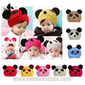 WomensDate 1Pc New Fashion Baby knitted Hats Autumn Winter Boy Girls Warm Lovely Animal Panda Crochet Cap Baby Kids Beanie Hats