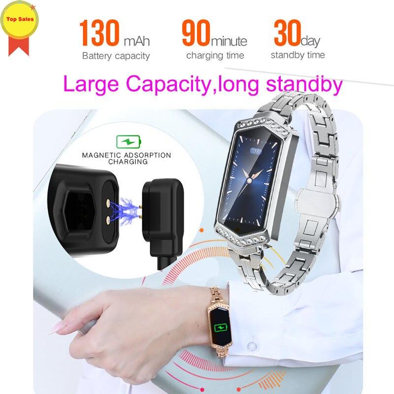 Smart Watch 2019 Women Girl Smart Band Heart Rate Blood Pressure Monitor Wristband Sport female tracker Fitness Bracelet Watch in Smart Wristbands from Consumer Electronics