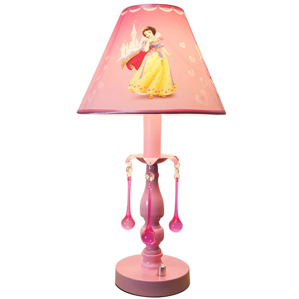 Pink PVC Cartoon Princess Print Baby Room Table Lamp Childrens Bedroom Bedsides Table Light Girls Study Room Desk Lighting LampPink PVC Cartoon Princess Print Baby Room Table Lamp Childrens Bedroom Bedsides Table Light Girls Study Room Desk Lighting Lamp