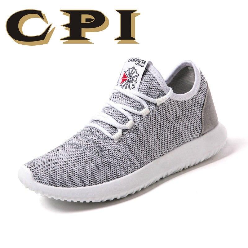 CPI Homens Sapatos Leves Respirável Flats Homens calçados Casuais Zapatos Hombre Sapatos Casuais Homens chaussure homme ZY-12