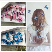 5pcs/simulation color butterfly headdress hairpin DIY baby accessories girl beach flower