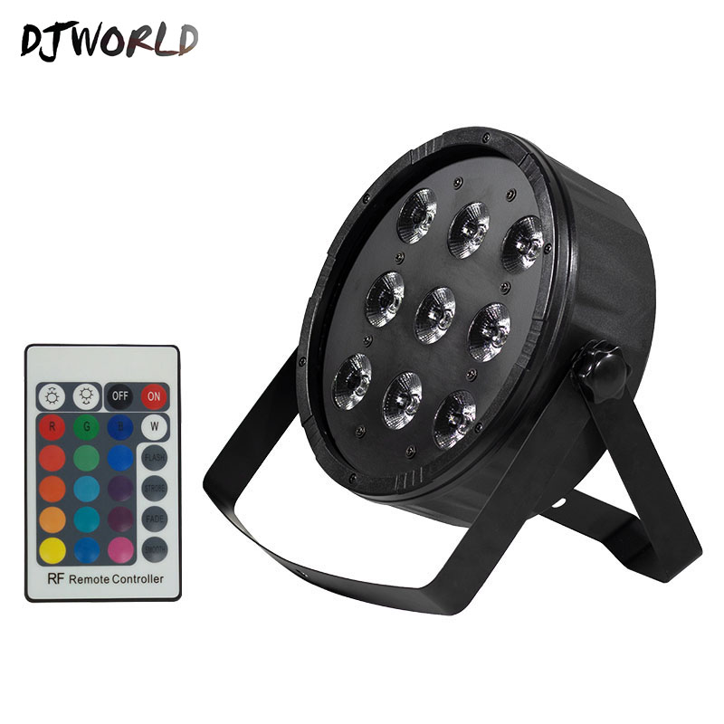 Fast Shipping Wireless Remote Control  LED Flat Par 9x12W RGBW Lighting DMX512 For Stage Effect Dance Floor DJ Home PartyFast Shipping Wireless Remote Control  LED Flat Par 9x12W RGBW Lighting DMX512 For Stage Effect Dance Floor DJ Home Party