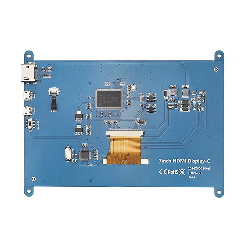 7 pouce Framboise Pi 3 Modèle B + LCD Affichage à L'écran Tactile LCD 1024*600 800*480 HDMI TFT Moniteur + Titulaire Cas pour Raspberry Pi 3 - 3