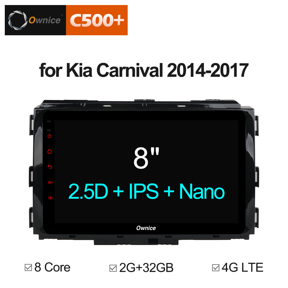 Ownice C500+ G10 8 Core Android 8.1 Car DVD Player GPS For KIA Carnival 2014 2015 2016 2017 Autostereo radio Multimedia DAB+ DVR special dvr without battery for ownice c500 car dvd and the dvd manufacture date must after 10th of april 2017 included 10th