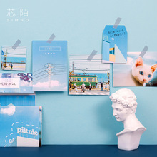 50pcs/lot Stationery Stickers Scrapbooking Photo Wall Small Card Ins Scenery Metope Decoration