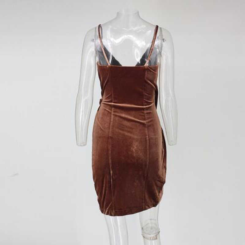 67749c4d6b Joyfunear Women Sexy Autumn Winter Dress V Neck Sleeveless Spaghetti Strap  Vintage Party Dresses slash neck Bodycon Vestidos