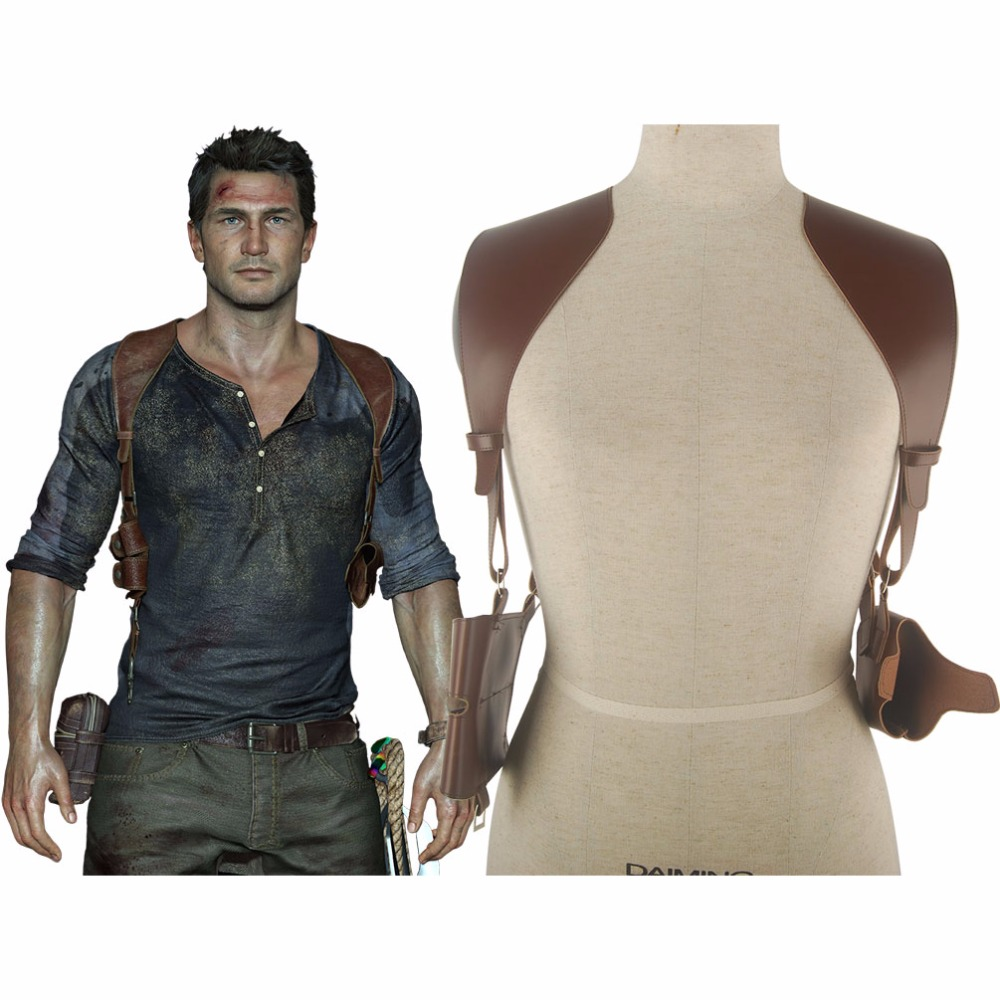 Uncharted 4 A Thief's End  Nathan Drake Shoulder Holster Accessories Halloween Comic-con Cosplay Costume
