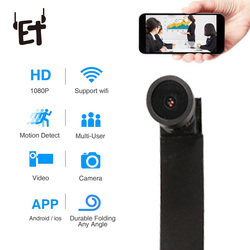 ET Ultra Mini WIFI Camera Full HD 1080P Motion Detection Video Recorder Flexible 140 Degree Wide Angle Micro Camcorder with APP