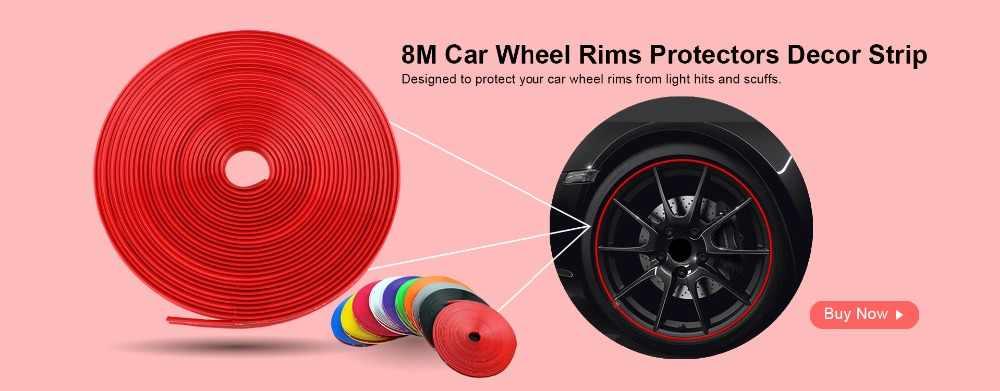 Hot8M/Rolle Neue Styling IPA Rimblades Auto Fahrzeug Farbe Rad Felgen Protektoren Decor Streifen Reifen Schutz Linie Rubber Moulding trim
