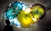 O cliente fez placas da flor da cor/tamanho para a parede que pendura 100% arte soprada mão da parede do vidro de murano