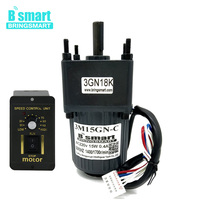 Bringsmart 3M15GN C 220V AC Geared Motors 15W Induction Small Machine 10/20/30/50/100/150/200/300/500rpm Single phase AC Motor