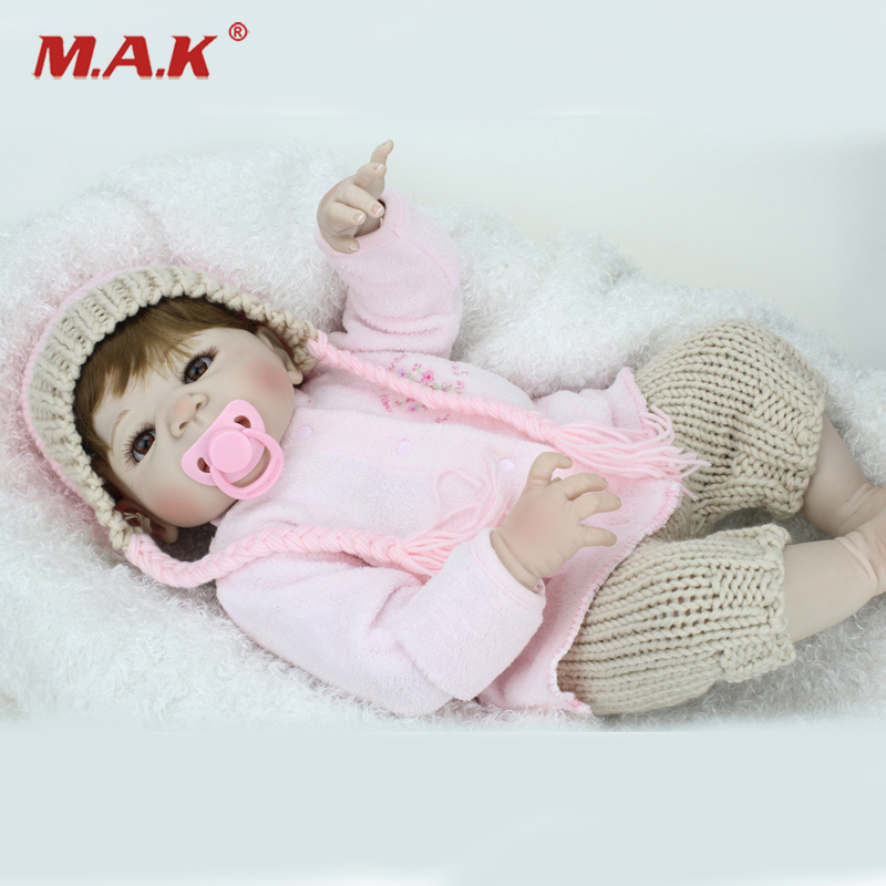 22 inches New arrival Handmade Silicone vinyl pink Lifelike toddler Baby Bonecas girl kid doll bebe reborn menina de silicone 22 lifelike toddler baby bonecas girl doll house vinyl adora bebe reborn menina de silicone christmas toys juguetes brinquedos