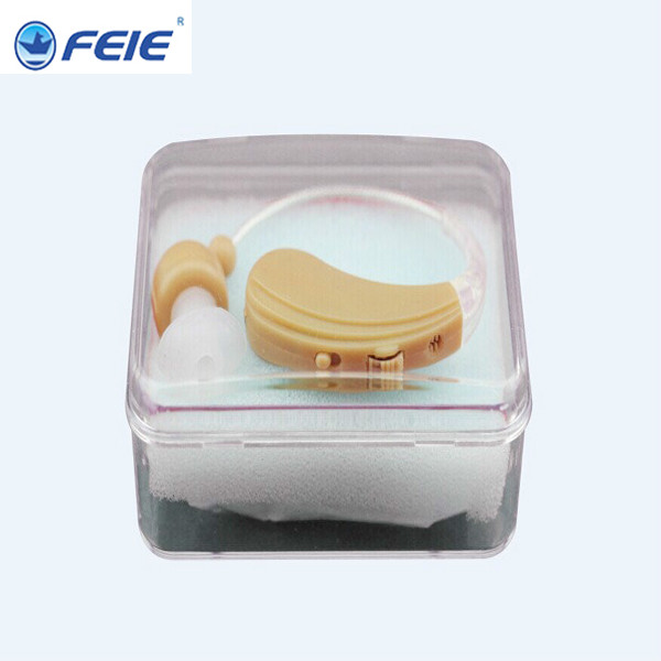 Hot sale Rechargeable Mini hearing aid Listen Up Personal Sound Amplifier BTE analog Apparecchio Acustico S-109 free shipping