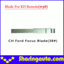 Free shipping (10 pcs/lot)Metal Blank Uncut Flip KD Remote Key Blade Type #38 for Ford Focus