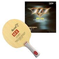 Оригинальный Sanwei M8 м 8 m-8 с 2x729 Генеральный Настольный теннис Резина с губкой для одного весла Shakehand длинная ручка fl