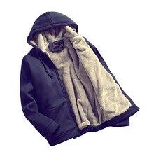 2016 heißer verkauf neue herbst winter sweatshirts männlichen Koreanischen männer plus dicke samt mit kapuze sweatshirts Frühling flut männlichen mantel große yards