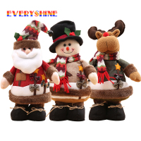 Merry Christmas Large Santa Claus Snowman Elk Doll Toys Christmas Tree Ornaments Xmas Happy New Year