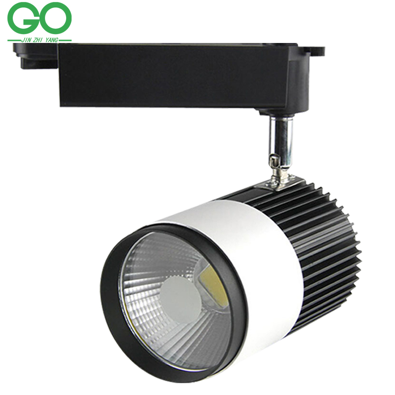 ФОТО LED Track Light 30W Dimmable COB Rail Lights Modern Kitchen Pendant Industrial Track Lighting Kits For Shops Clothes Shoes Store