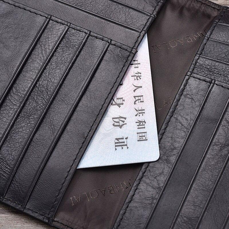 Echt leer paspoort Cover ID visitekaarthouder Travel Credit Wallet voor mannen (7)