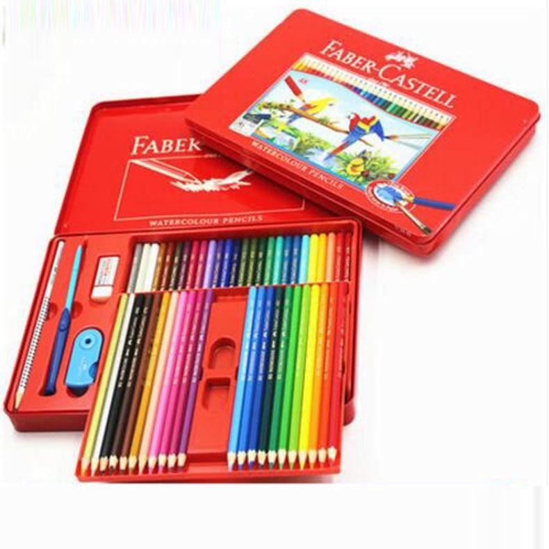 El correol de soluble en pintado a mano profesional/hierro/caja de embalaje/24 48 color lapis de cor/B351139