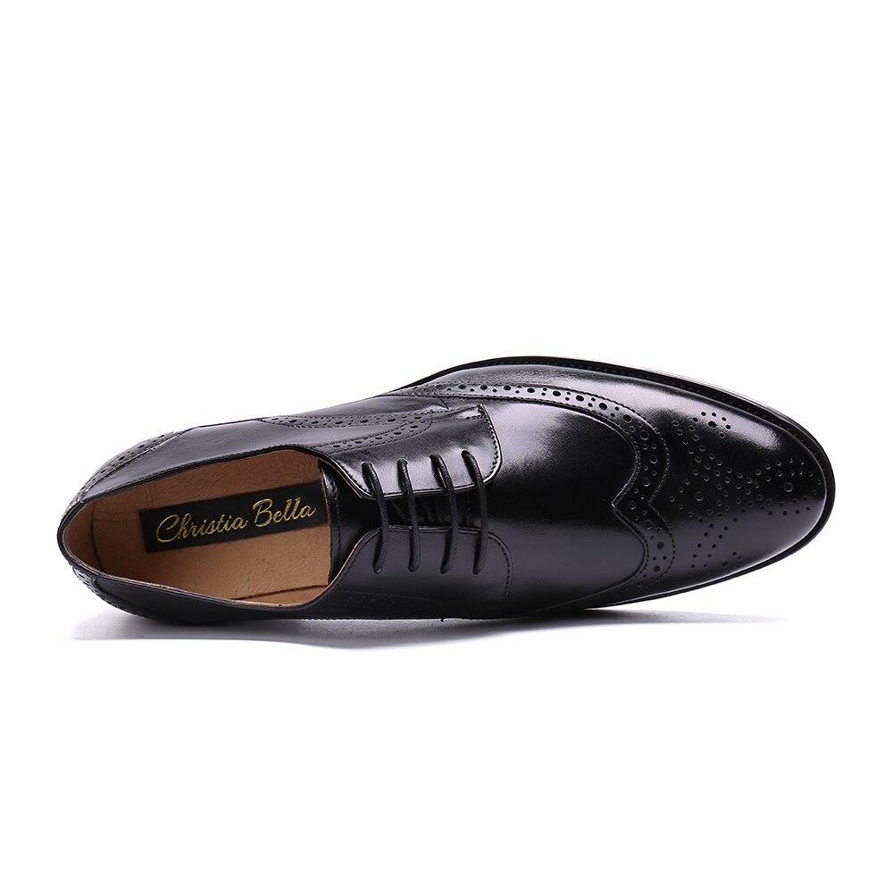 Sapatos Genuíno Preto Men Plana Homens Bella Derby Marrom De Dos Business Clássico Verde Casamento Calçado Casual Christia Festa Brogue Couro Masculino pwq8Rd1