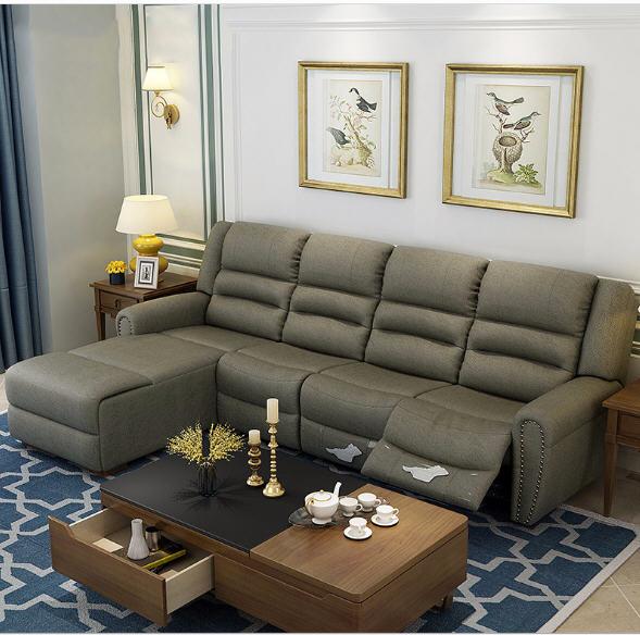 Living Room Sofa set Home Furniture modern recliner hemp ...