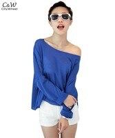 высокое качество женщин щель декольте блузка леди флуоресценции с длинным рукавом летучая мышь рукавом блузка 10