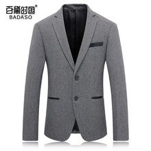 2016 new men's fashion high-end pure wool suit coat Party Dress Suit Jacket coat SIZE  M-3XL