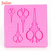 jialian scissors Shaped fondant silicone mold chocolate fudge cake decoration baking confectionery tools FT-1001(China)
