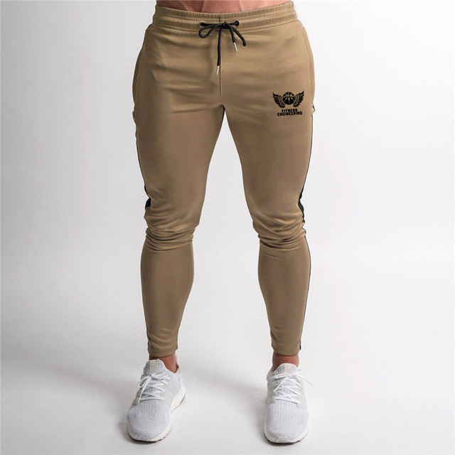 Zip Pocket High Quality Jogger Pants Men Fitness Bodybuilding Pants Pantalones Hombre  Sweatpants Trousers Men 5