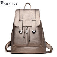 Fashion Leather Backpack Shoulder Bags European And American Style Backpack School Bags For Girls Travel Backpack Hot Sac A Dos