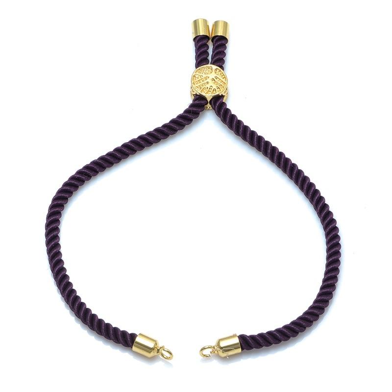 4 шт. 12 цветов черная красная струнная плетеная веревка макраме шнур цепи регулируемые цепочки для изготовления браслетов - Цвет: gold