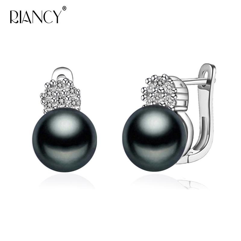 Fashion Natural freshwater black pearl ear clip charms bohemian style earrings for women wedding gift(China)