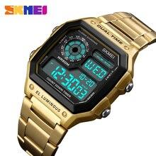 Relogio Skmei 1335 Gold Watch Men Electric LED Digital Mens Watches Man Clock Al