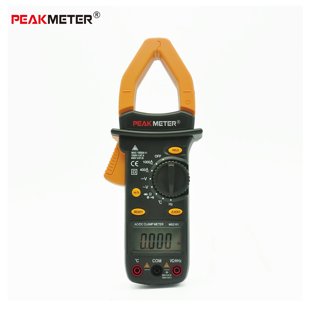 PEAKMETER MS2101 Auto Range Digital AC DC Current Frequency Voltage Clamp Meter With Temperature Tester Multimetro все цены