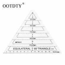 60 stopni trójkąt równoboczny linijka do pikowania szablon wyroby krawieckie DIY narzędzie tanie tanio 16 5*13 5cm 1 pc Haft OOTDTY Części do Maszyn do szycia CN (pochodzenie) Z tworzywa sztucznego
