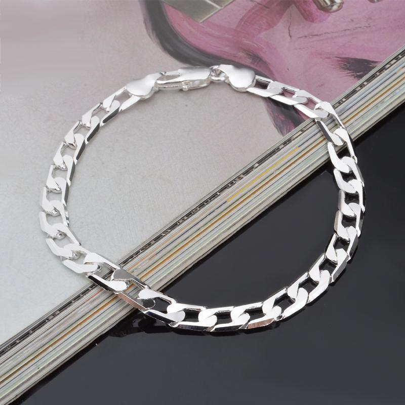 Simple Style Silver Chain Bracelet For Men Women Clic 925 Sterling Bracelets Bangles Free Shipping In Strand From Jewelry