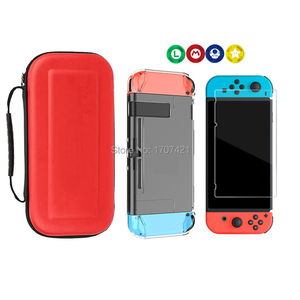Image 2 - 8 in 1 for Nintend Switch Carrying Storage Bag Tempered Glass Screen Protector for Nintendoswitch Hard Shell Case for NS Switch