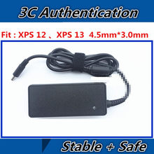 19.5 V 2.31A 45 W New Laptop AC DC ADAPTER UNTUK Dell XPS 12 13 L321X 322X9350 9343 9360 9333 DC Power Jack Pengisian Kabel(China)