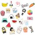 1 PC encantador dibujos animados iconos en el Pin Kawaii icono insignia Bacges en la mochila insignias ropa acrílico placas