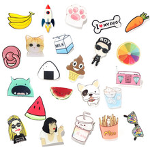 1 PC Lovely Cartoon Icons on The Pin Kawaii Icon Badge Bacges on Backpack Badges for Clothing Acrylic Badges(China)