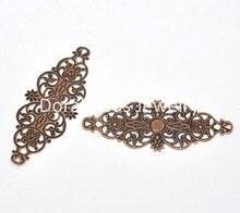 DoreenBeads 50 Copper Tone Filigree Flower Wraps Connectors (B13804), yiwu