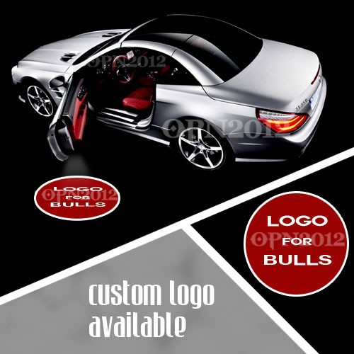 ФОТО Car Step Ground Welcome Ghost Shadow Laser Projector for CHICAGO BULLS Basketball Logo LED Door Courtesy Puddle Logo Light #1157