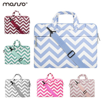 13 3 Inch Laptop Shoulder Bag Chevron Style Canvas Fabric Carry Case For MacBook Air Pro