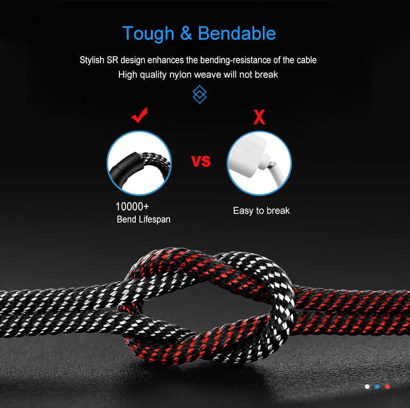 Cable magnético para iPhone Xiaomi Samsung Android Teléfono Móvil cargador magnético carga rápida tipo C Cable Micro USB