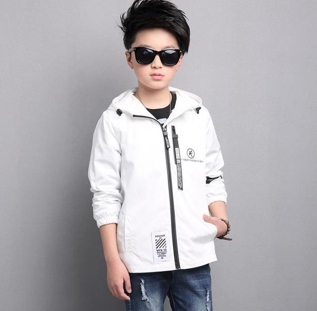 New style children's hooded jacket jacket, Chao fan, front middle band, zipper boy windbreaker jacket.children boys clothing