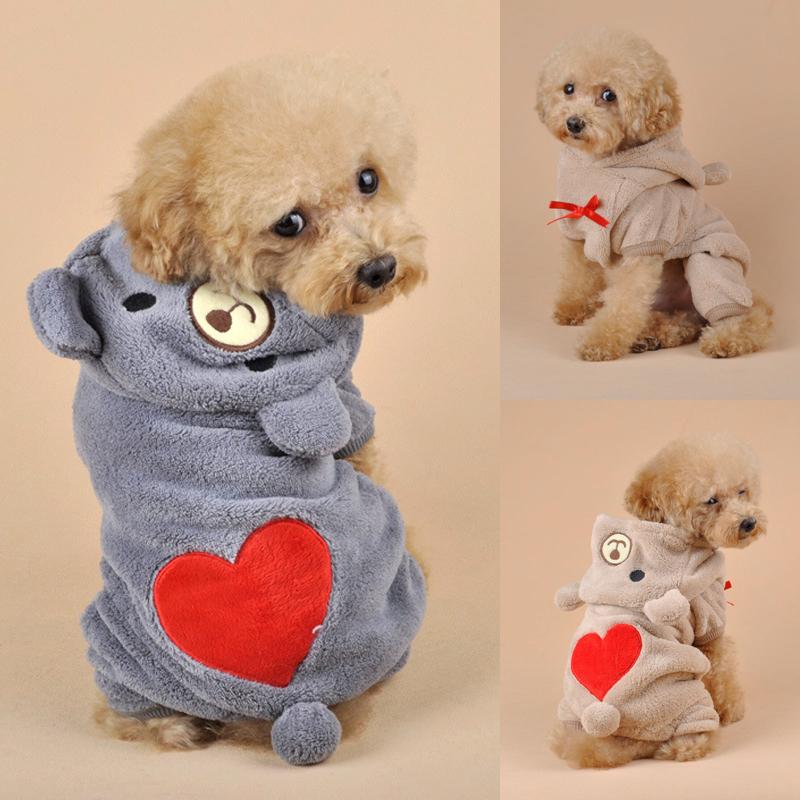 Cute Small Dog Fleece Clothes Coat Pet Puppy Soft Warm Hoodie Jumpsuit Gift Uk Dog Hoodies Aliexpress