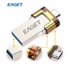 Eaget 16 ГБ usb флэш-накопитель USB 3.0 MicroUSB3.0 high speed metal флешки для смартфон Планшеты PC накопитель memory Stick U диск
