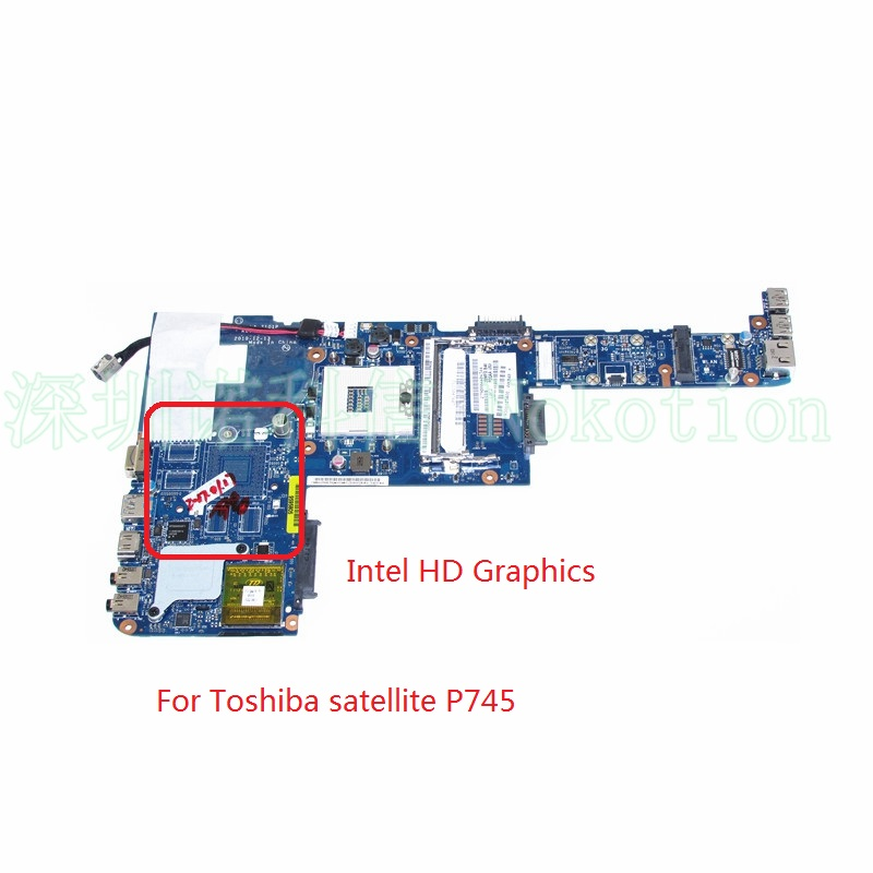 NOKOTION PBQAA LA-7101P K000123400 For Toshiba satellite P700 P740 P745 laptop Motherboard HM65 DDR2 k000057370 iskaa la 3481p for toshiba satellite a200 a205 laptop motherboard pm965 ddr2 free shipping 100